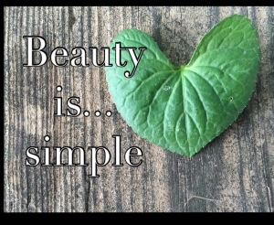 Beauty is...simple. Don't muck it up.