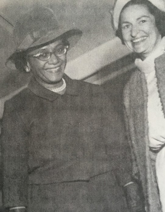 With First Lady Ladybird Johnson