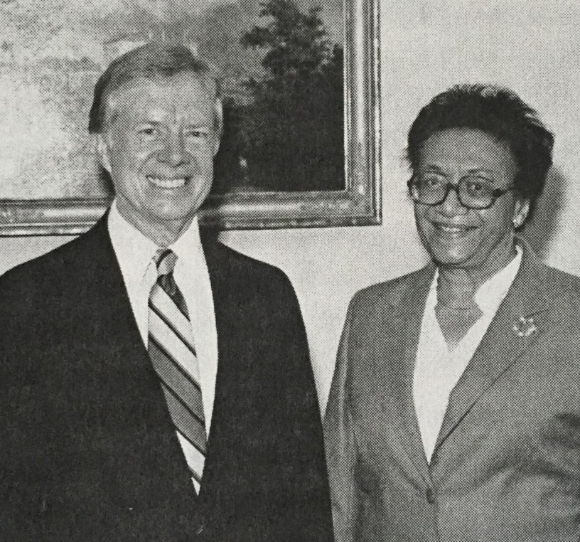 With President Jimmy Carter