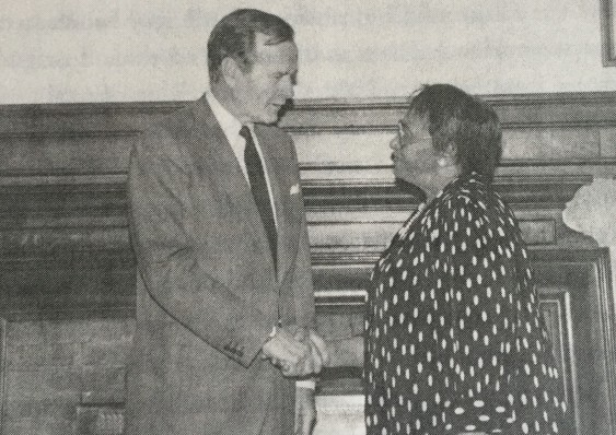 With President George H W Bush