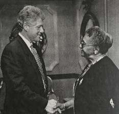 With President Bill Clinton