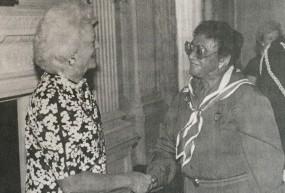 With First Lady Barbara Bush